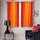 Elan cotton curtains Marigold Orange Str...