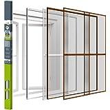 Bescherming tegen insecten dubbele schuifdeur vliegengaas muggenrooster | aluminium | met klemlijst | easy life | 230x240cm |
