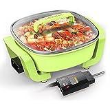 Cuisinière électrique Multifonctionnel Ménage Casserole anti-stick Hot Pot électrique Wok électrique 1360w
