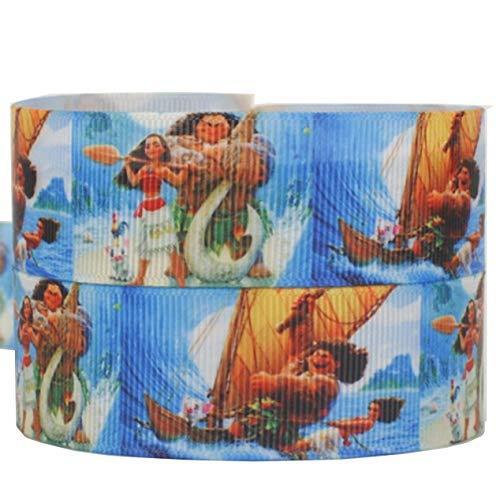 Disney SEMO2002und Maui Ripsband 2m x 22mm für Geburtstagstorten, Geschenkpapier Band Haar Bögen