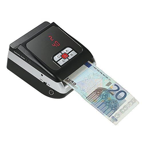 Anself Portatile Mini Banconota Rilevatore Soldi Contraffatti Rilevazione Macchina per Euro LED Display