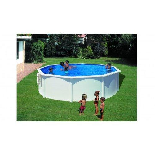 Piscina dream pool bora bora acciaio bianca 3,50 x 1,20m KITPR353