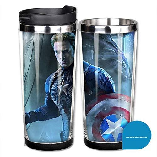 JXKEF Outdoor Sports Cup Avengers Tasse Kaffeetasse Edelstahl Liner DIY Wasser Tasse, 380ml, 15