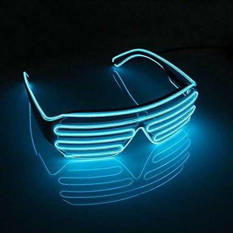 Neon Rose Lumiere - SOLMORE Lunettes Lumineuse EL fil Néon Guirlande