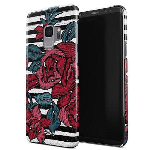 Glitbit Embroidered Print Red Rose Unique Stylish Tumblr Floral Flowers  Thin Design Durable Hard Plastic Protective