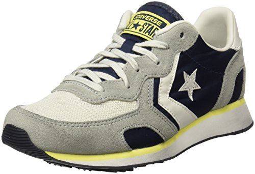 Converse Auckland Racer Distressed Ox, Sneaker a Collo Basso Unisex-Adulto Multicolore (Athletic Navy/Ghost Grey/Buff)