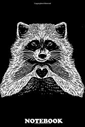 "Notebook: Love Raccoon , Journal for Writing, College Ruled Size 6"" x 9"", 110 Pages"