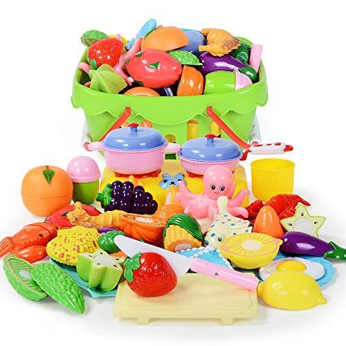 NextX Küchenspielzeug mit Lebensmittel GeschirrKüche Rollenspiele Spielzeug für Jungen und Mädchen (29 Stücke) (Küche Mädchen Spielzeug)