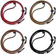 Cordón de Gafas 4 Piezas Universal Cuerda de Gafas Ajustable Antideslizante para Los Deportes y Actividades al