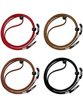 Cordón de Gafas 4 Piezas Universal Cuerda de Gafas Ajustable Antideslizante para Los Deportes y Actividades al...