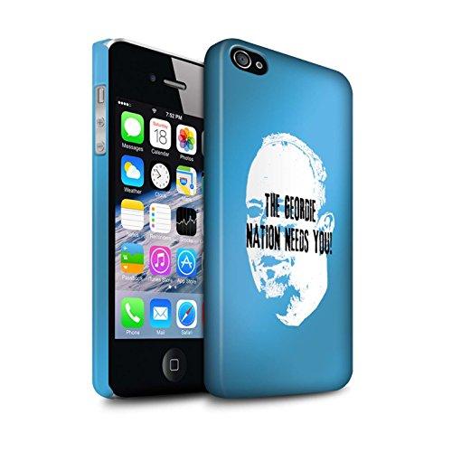 Officiel Newcastle United FC Coque / Clipser Matte Etui pour Apple iPhone 4/4S / Pack 8pcs Design / NUFC Rafa Benítez Collection Nation Geordie