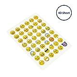 Kleine Emoji-Emoticons-Aufkleber für das Gesicht, Teacam, 960 Stück Emoji-Emoticons von iPhone, für Tagebuch, Lehrerpreise, Kinder-Party-Zubehör