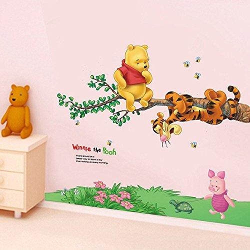 Groten Wandtattoo Kinderzimmer Wandsticker Kinder Abnehmbare Bär mit Tiger BE88