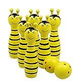Hölzern Tier Bowlingkugel SET Spiel Baby Intellektuelle Spielzeug Kinder 6