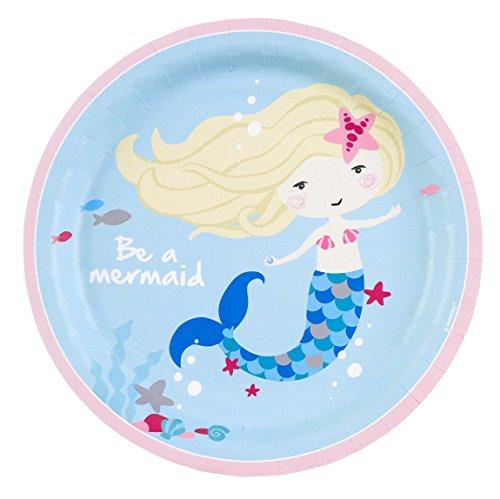 Unterwasser Kostüm Motto Party - amscan 9903030 Be a Mermaid Teller, Mehrfarbig, 23 cm
