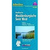 Bikeline Radkarte Deutschland: Mecklenburgische Seen West, Güstrow, Malchow, Parchim, Plauer See, Krakower See, RK-MV05, 1 : 75 000, wasserfest/reißfest, GPS-tauglich mit UTM-Netz