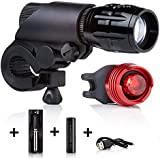 Bike Lights LED by Camden Gear VIVID XIII Light. 200 Lumens Bright, Easy to Fit LED Bicycle Lights. Front and Back.