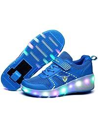 Zapatillas de deporte de moda LED para niños, niñas y niños, ruedas con ruedas, zapatos de skate, cómodos, zapatos de…
