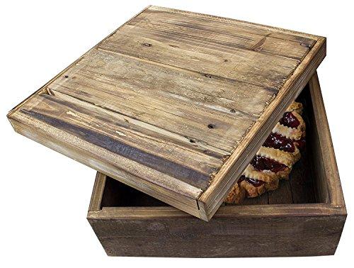 Natur Holz Pie/Brot Aufbewahrungsbox-35,6cm (Pie Box Holz)
