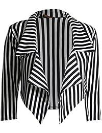 Fast Fashion - Blazer De Cardigan ¾ Chute D'eau Manches De Mince Bande Haut - Femmes