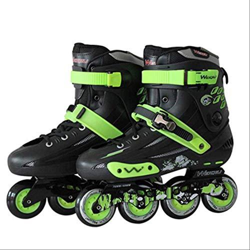 STBB Rollschuhe Professionelle Inline Skates Schuhe 4 Rollen Erwachsene Rollschuh Männer Frauen Outdoor Freestyle Skating Patins 43 Schwarz