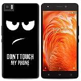 Yrlehoo Für BQ Aquaris M 2017, Premium softe Silikon Schutzhülle für BQ Aquaris M 2017 Tasche Case Cover Hülle Etui Schutz Protect, Do not touch my phone