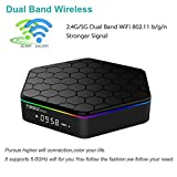 LinStar (2018 Android TV Box) T95Z Plus Android 7.1 with 3GB RAM 32GB ROM Amlogic Octa Core Media Player Support 4K Resolution 2.4G/5G Dual WIFI 1000M LAN BT 4.0 (T96 Z Plus (3G+32G))