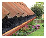 Dachrinnenbürste speziell für Kupferdachrinnen, 20 Meter Ø 12cm, inkl. 12 Sicherungsklammern gegen Sturm und Wind