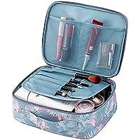 Tpocean Trousse per trucchi, astuccio portatile da viaggio per cosmetici, articoli per l'igiene personale, spazzole, da donna o ragazza