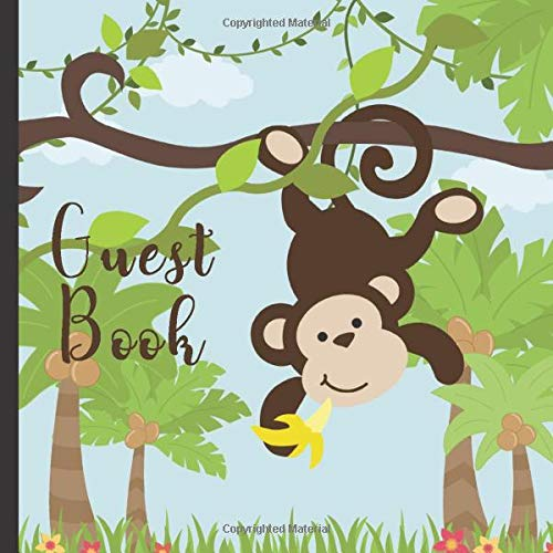 Monkey Theme Party Guest Book Includes Gift Tracker and Picture Memory Section (Monkey Party Guest Books, Band 6) ()