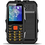 [Sponsored]E700 Outdoor Mobile Phone, 2.0 Inches Dual Card 2800mAh Long Standby Cell Phone With FM Radio, Shockproof, Dust-proof, Flashlight (Black)