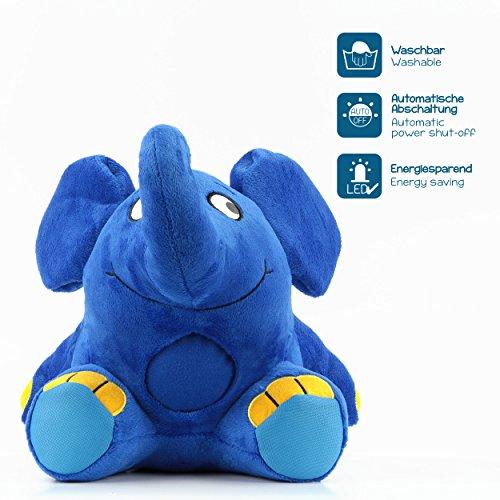 Imagen 3 de Ansmann 1800-0014 - Elefante de peluche con luz nocturna y nana para dormir [Importado de Alemania]