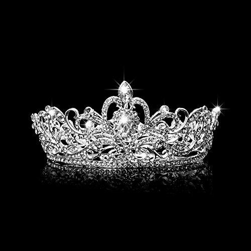 onen Für Mädchen Party Hochzeit Braut Pageant König Krone Tiara Strass Diamante Kopfschmuck Schmuck W ()