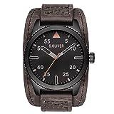 s.Oliver Herren-Armbanduhr Analog Quarz Leder SO-15152-LQR