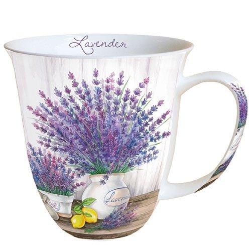 Ambiente Porzellan Becher 0,4 L, Mug, Tasse, Fuer Tee Oder Kaffee ca. 0,4L Lavender - Ideal Als Geschenk