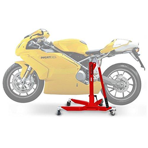 ConStands Power Classic-Zentralständer Ducati 749/999 03-07 Rot Motorrad Aufbockständer Heber Montageständer