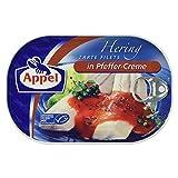 Produkt-Bild: Appel Heringsfilets, zarte Fisch-Filets in Pfeffer-Creme, MSC zertifiziert, 200g