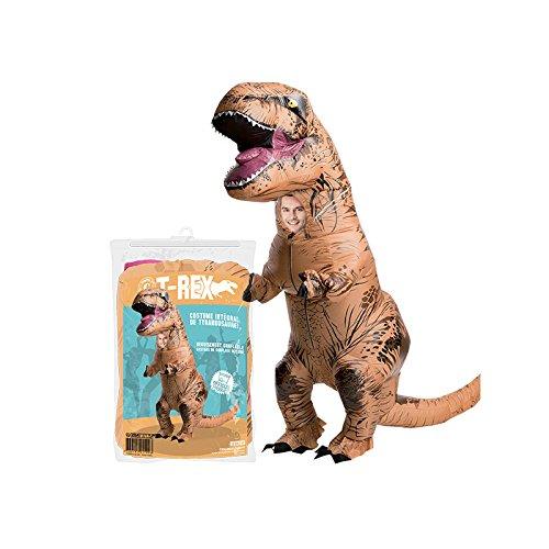 Original Cup Costume Gonfiabile Dinosauro T-Rex Nuovo - Premium Quality - Formato Adulto Costume - Poliestere Comodo da Indossare e Resistente - Include Inflation System