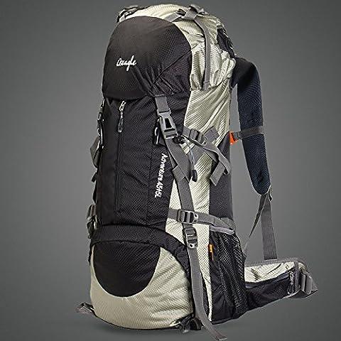 optuny Outdoor grande capacità di uomini e donne Ultra-Light impermeabile offload dell' arrampicata di traspirante da viaggio Zaini, Nero, aggiornamento 60L + pioggia Shield