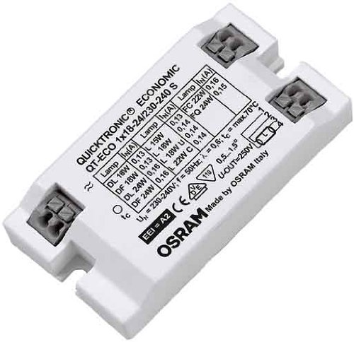 Preisvergleich Produktbild Osram Vorschaltgerät QT-ECO 1x 15, 18, 22, 24 Watt Lampe 230-240 Volt S-Bauform