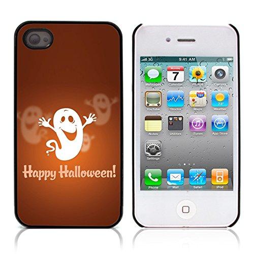 Graphic4You Halloween Allerheiligen Thema Gespenst Design Harte Hülle Case Tasche Schutzhülle für Apple iPhone 4 und 4S Design #7