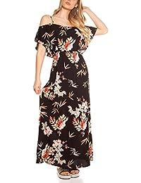 68444964f12be6 Maxi Sommerkleid Gr. S-XL * Kleid lang Festival-Style Blumen Strandkleid  Damen Sommer Maxikleid bodenlang…