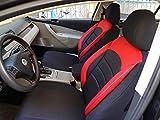 Sitzbezüge k-maniac | Universal schwarz-rot | Autositzbezüge Set Komplett | Autozubehör Innenraum | Auto Zubehör für Frauen und Männer | NO2526426 | Kfz Tuning | Sitzbezug | Sitzschoner