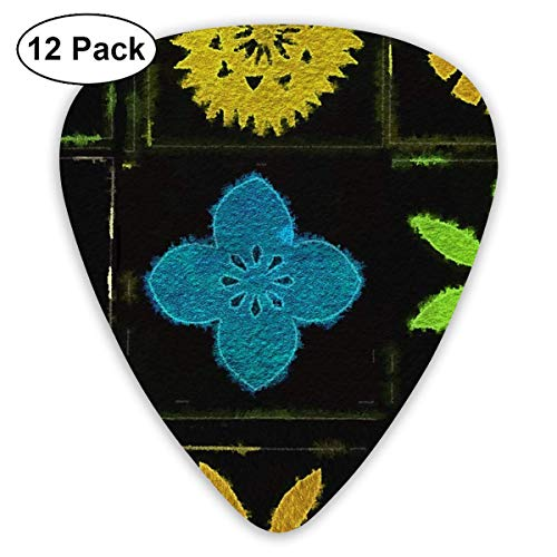 Modern Tapa 3c_2147 Classic Celluloid Picks, 12-Pack, For Electric Guitar, Acoustic Guitar, Mandolin, And Bass