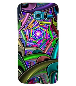 ColourCraft Abstract Design Back Case Cover for SAMSUNG GALAXY S6 EDGE G925