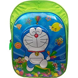 3D Doraemon, Dorimon, Chota Bheem, Spiderman, Ben10, ben 10, minions Green Children's / kid's Backpack water proof, school bag for class / standard Pre Nursery, Nursery, KG, UKG, LKG, first 1st, second 2nd, 3rd third, 4th fourth, 5th Fifth class for boys & girls 15 Liter, 16 Inch. For children ages 4 to 11 years