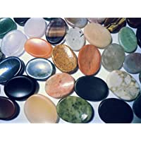 Unbekannt 20 Stück Daumensteine Handschmeichler (Amethyst, Bergkristall, Aventurin, Tigerauge, Lapislazuli UVM.) preisvergleich bei billige-tabletten.eu