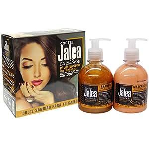 Coctel Jalea shampoo senza sale e maschera con pappa reale - shampoo senza solfati né parabeni con biotina e seta idrolizzata