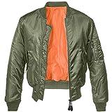 Brandit MA1 Jacke Oliv/Orange 3XL