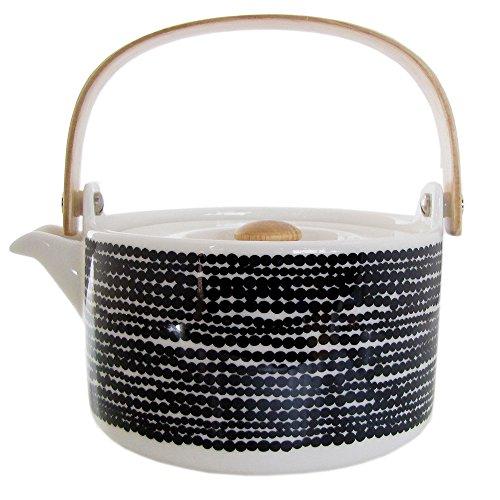 Marimekko Siirtolapuutarha Noir Teapot 0.70L